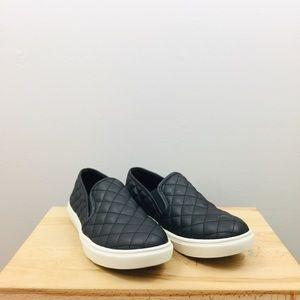 Steve Madden | Black Quilted Slip-On Sneakers